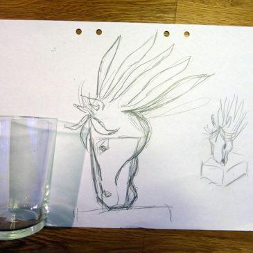 Ny idé: Ett hästhuvud som vas