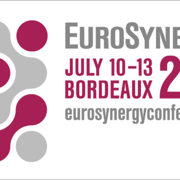 I am one of the speakers at EuroSynergy2 in Bordeaux next year!