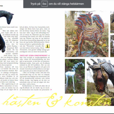 Mosebacke Horse Sculptures in the Cheval Magazine