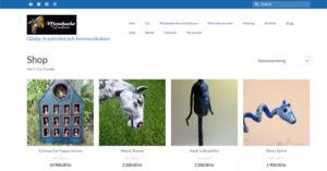 Skärmdump på webshop