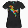 Svart Tshirt med hoppande häst