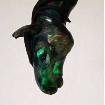 Hästhuvud i polymerlera