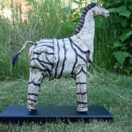 Hästskulptur zebra - med pyjamas