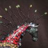 Hästskulptur i polymerlera