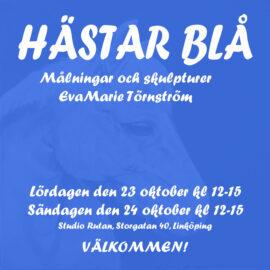 Inbjudan till utställning Hästar Blå 23-24 oktober 2021